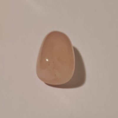 Rose quartz crystal tumblestone